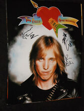 TOM PETTY'S THE HEARTBREAKERS SIGNED 11X14