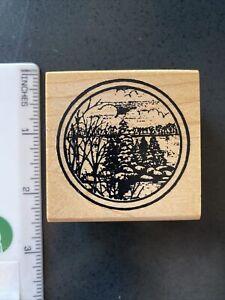 Woods Landscape Rubber Stamp-Northwoods Rubber Stamps
