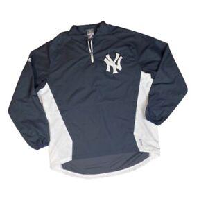 Majestic NY Yankees Long Sleeve Cool Base Jacket 1/4 Zip MLB Baseball Pullover M