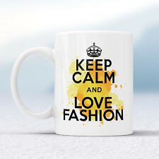 Keep Calm And Love FASHION Splash Mug Gift Clothes Lover Shoes Heels Cup Present