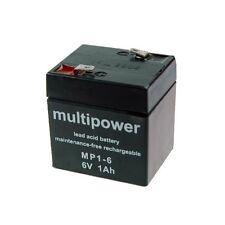 Multipower Blei-Gel Akku AGM MP1-6 6V 1Ah Batterie Accu 6 Volt Lead Acid Battery