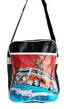 Retro overnight/gym/holdall/flight/school bag,VW van SURFER, WAVES new