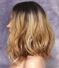 Natural everyday slightly beach wavy Full Lace front Wig Blonde with Dark Roots