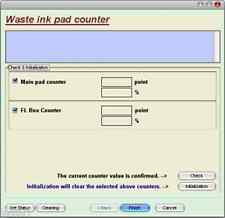 Software Reset per stampante EPSON 1390 tamponi Inchiostro Waste ink Pad Reset