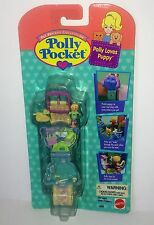 1995 POLLY POCKET Bluebird *POLLY LOVES PUPPY* Bracelet Wrist Locket MOC NIP