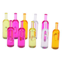 10pcs/set 1:12 Dollhouse Miniature Colorful Wine Bottles Models To QA