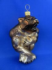 Sci Fi Werewolf Monster Wolf Glass Christmas Tree Ornament Animal Poland 011313