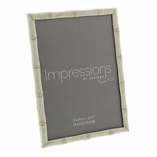 "Impressions by Juliana Oriental Cream Bamboo Effect PHOTO FRAME 5 x 7"" Gifts Box"