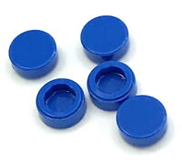 Lego 5 New Blue Tiles Round 1 x 1 Flat Smooth Pieces