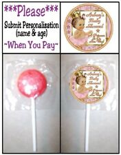 24 Royal Princess Birthday Party Or Baby Shower Lollipop Sticker Pink Gold White