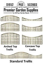 More details for new premier standard arched & concave trellis / lattice fence topper in 3 sizes