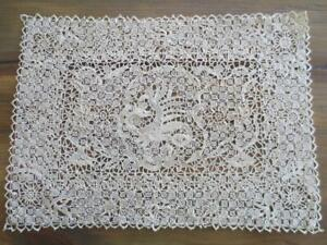 Excellent Antique Italian Needle Lace Placemat Set