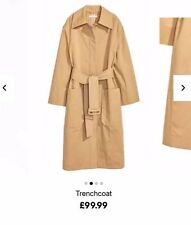 H&M Trend Camel Cotton Trench Coat Small BNWT RRP £99.99