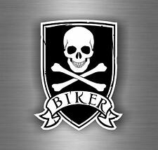 Sticker car motorcycle helmet vinyl chopper biker pirate flag skull