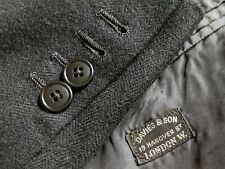 40XS Davies & Son Surgeon Canvas Ticket Pocket Tweed England Coat Jacket Blazer