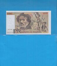 100 Francs DELACROIX  de 1993 Alphabet G.210  Très belle variété de décentrage