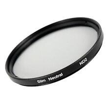 ND2 Effekt SLIM Graufilter Filter  49, 52, 55, 58, 62, 67, 72, 77, 82 mm