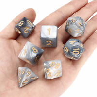 7Pcs/Set Acrylic Polyhedral Dice with Bag for DND RPG MTG Role Playing Game
