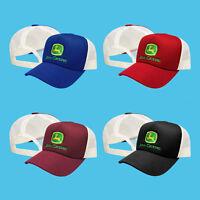 John Deere Trucker Mesh Baseball Cap Embroidered Auto Logo Hat Tractor Mens Gift