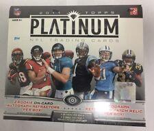 2011 Topps Platinum Factory Sealed Football Hobby Box