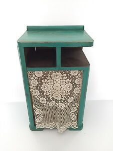 Teal blue side table/cabinet
