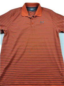 UA Under Armour Heatgear SS Golf Polo Shirt Mens Size Large EUC