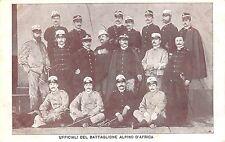 C4660) WW AFRICA 2 REGGIMENTO ALPINI, UFFICIALI DEL BATTAGLIONE ALPINO D'AFRICA.