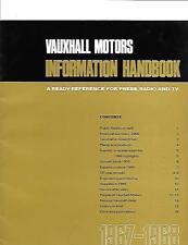 """VAUXHALL informazioni manuale opuscolo"""" """"per la stampa, Radio & TV per 1967 - 1968"""