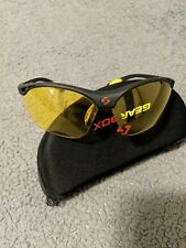 Gearbox Vision Amber Lens Pickleball Racquetball Eyewear Black
