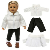 Vestiti per le bambole Fit 18in Doll baby Warm Jackets + Pants Kids G CRIT