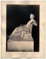 Roma Musei Capitolini Statua di Agrippina Foto originale albumina 1870ca XL278