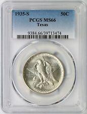 1935-S Texas Silver Half Dollar 50c PCGS MS66