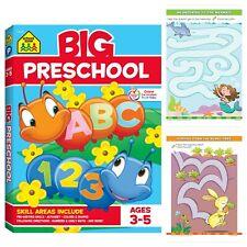 Big Preschool Workbook Colors, Shapes, Numbers, Alphabet, Pre-Writing Phonics