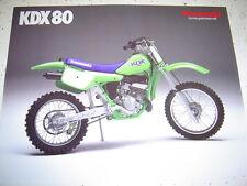 1988 Kawasaki KDX80 NOS Sales Brochure 2 Pages.