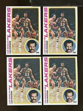 4 Card 1978-79 Topps #24 LOU HUDSON Los Angeles Lakers EXMT Lot (MR21)