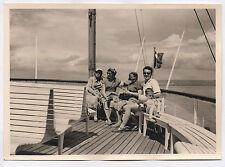 PHOTO ANCIENNE Croisière sur le Lac Léman Bateau à vapeur 1954 Évian ? Famille