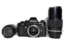 Nikon F3 35mm Camera w/ Nikkor 24mm Lens Plus Nikkor 200mm Zoom Lens
