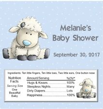 15 Lamb Baby Shower Candy Bar Wrappers