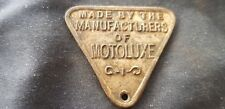 Nice Vintage Motoluxe badge unresearched. L64i
