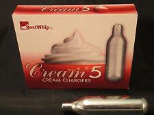 (5) N2O 16 gram whip Cream Charger Nitrous Oxide Boost Kit Whipped N20  5 BW 16g