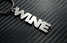 WINE Vin Vino Wine O'clock Alcohol Beverage Pub Keyring Keychain Key Fob Gift