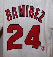 Boston Red Sox Manny Ramirez #24 Majestic Kids White Jersey