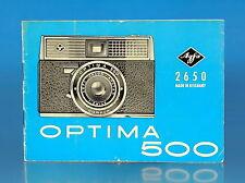 Agfa Optima 500 Bedienungsanleitung german manual - (100082)