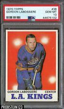 1970 Topps Hockey #38 Gordon Labossiere Los Angeles Kings PSA 10 GEM MINT