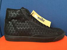 NIKE BLAZER MID METRIC QS sz 13 BLACK-BLACK 744419-001 GEOMETRIC Sneaker Roshe