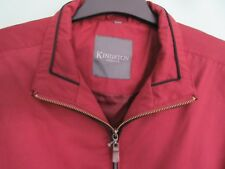 MEN'S CASUAL JACKET, SIZE MEDIUM,COLOUR RED,.KINGSTON NEW WITH TAGS