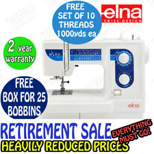 ELNA EXPLORE 340 SEWING MACHINE. 30 STITCHES,NEEDLE THREADER,ONE STEP BUTTONHOLE