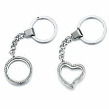 30MM Living Memory Locket for Floating Charms Glass Magnetic KeyChain Keyring