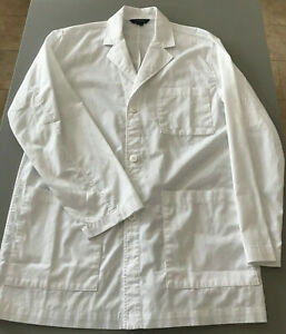 Lands' End New W/out Tags Lab Doctor White Coats PPE Size 36 Retails $45