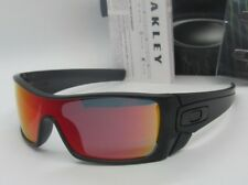 OAKLEY matte black ink/ruby iridium BATWOLF OO9101-38 sunglasses! NEW IN BOX!